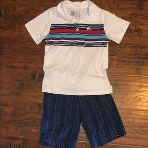 Quicksilver short/polo shirt set